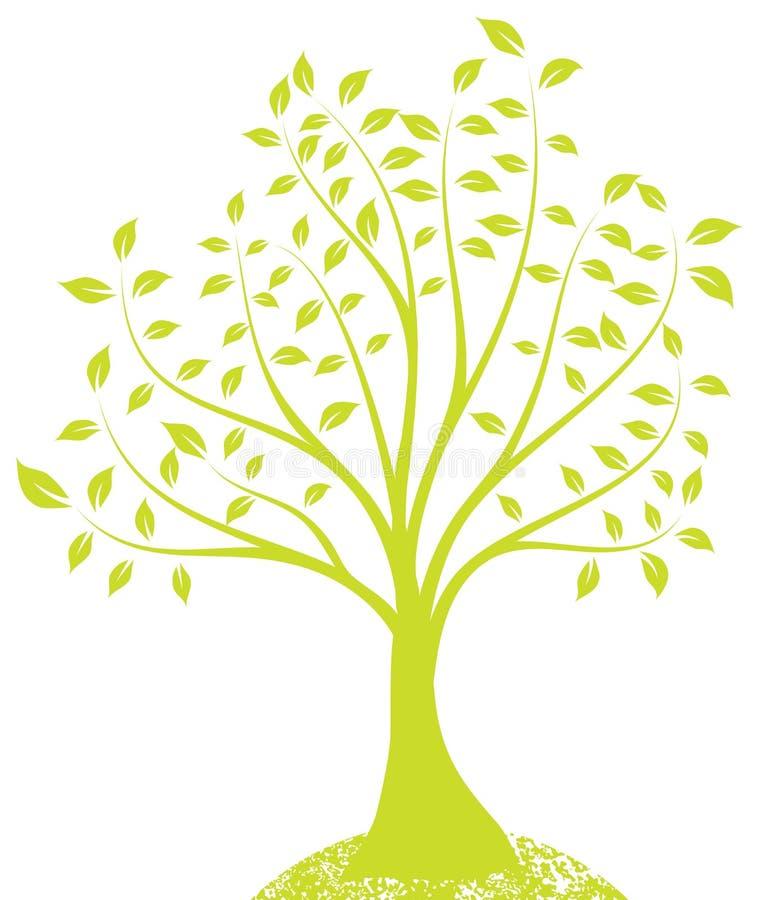 grön tree royaltyfri illustrationer