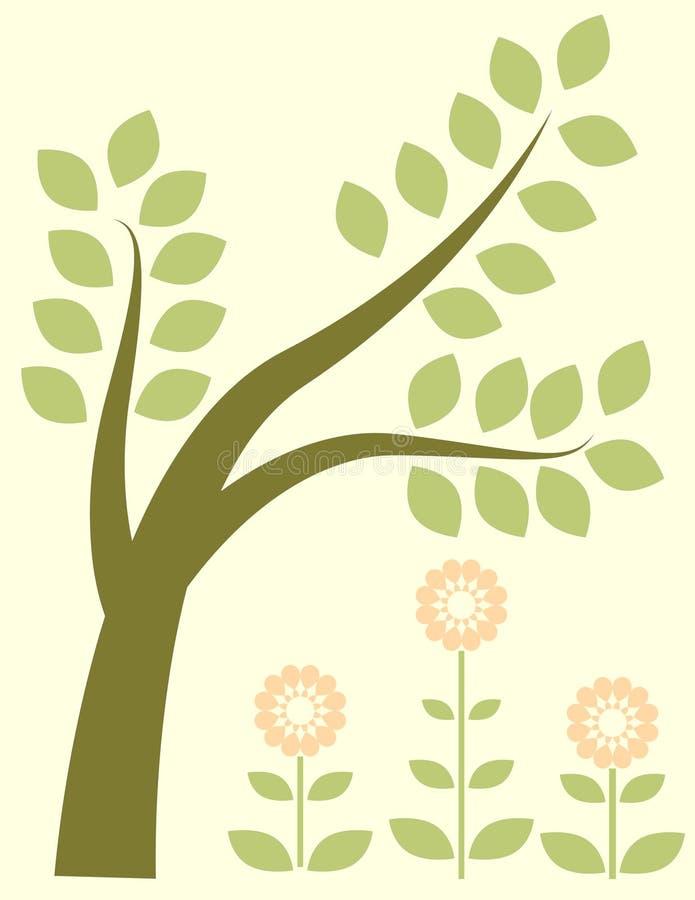grön tree vektor illustrationer