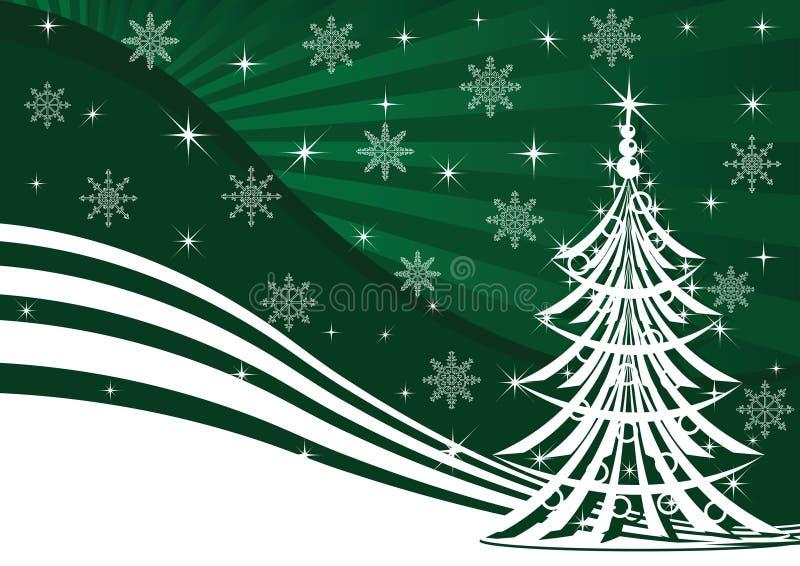 grön tree för bakgrundsjul royaltyfri illustrationer