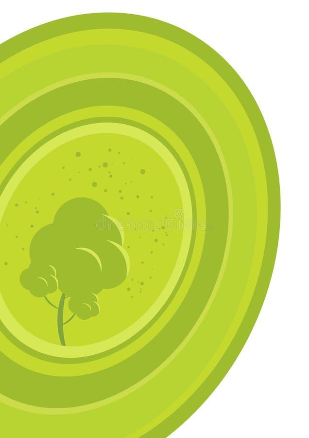 grön tree för diagram stock illustrationer