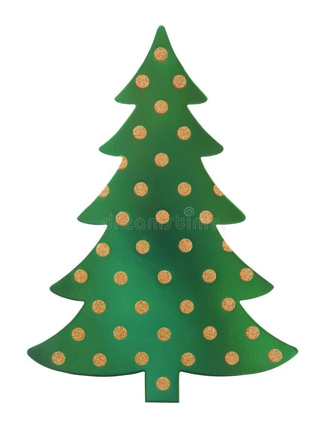 grön tree för jul arkivfoton