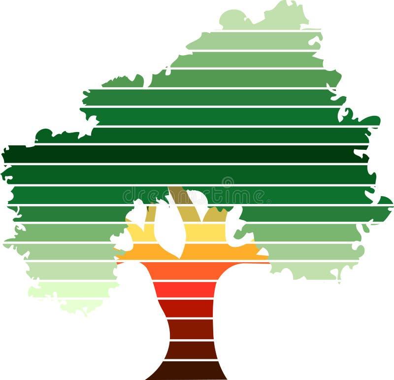Grön treelogo vektor illustrationer