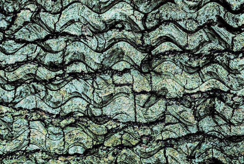 Grön turkos Wavy grunge abstrakt textur bakgrund royaltyfri foto