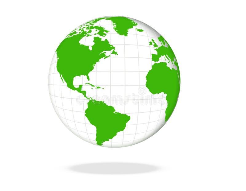 grön värld för jordklot vektor illustrationer
