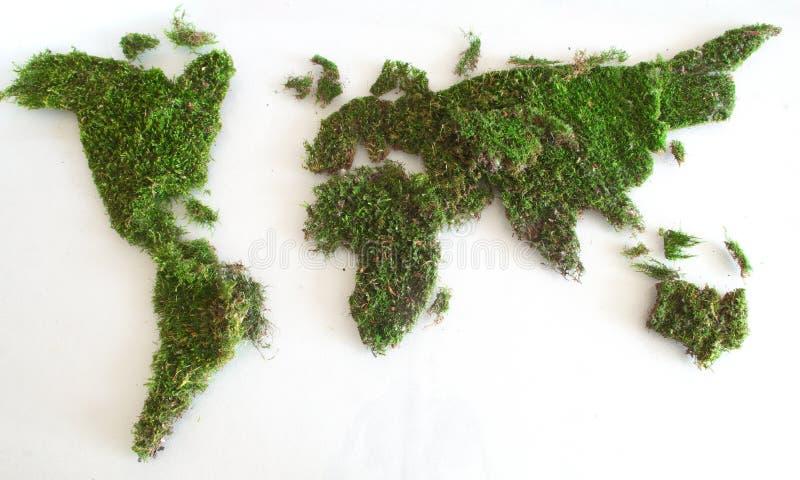 Grön världskarta royaltyfria bilder