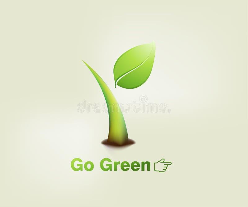 grön växt stock illustrationer