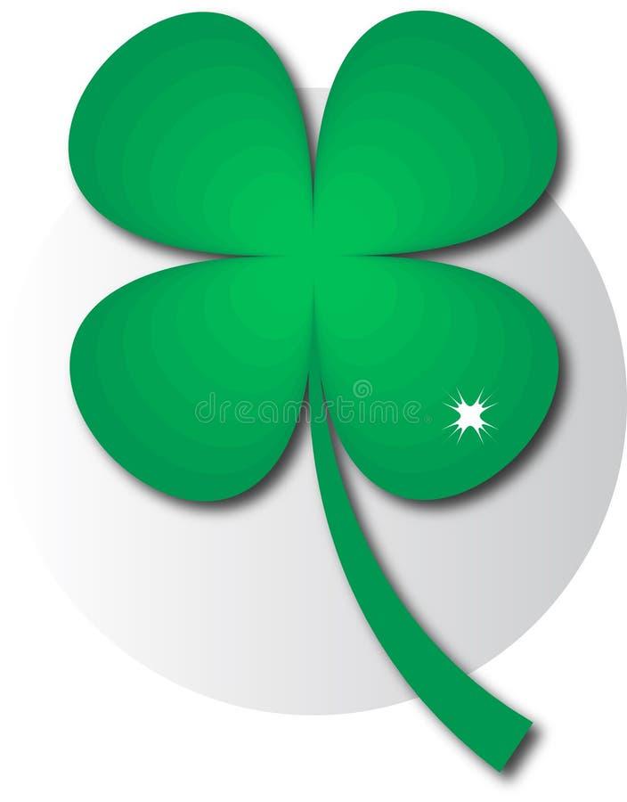 Grön växt av släktet Trifolium för logo arkivfoto