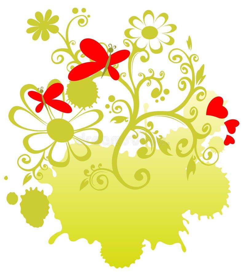 Grön valentinmodell stock illustrationer