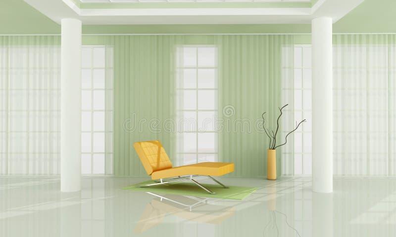 grön vardagsrumwhite royaltyfri illustrationer