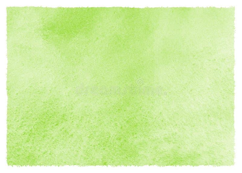 Grön vattenfärgvår påskbakgrund med konstnärliga kanter royaltyfri illustrationer