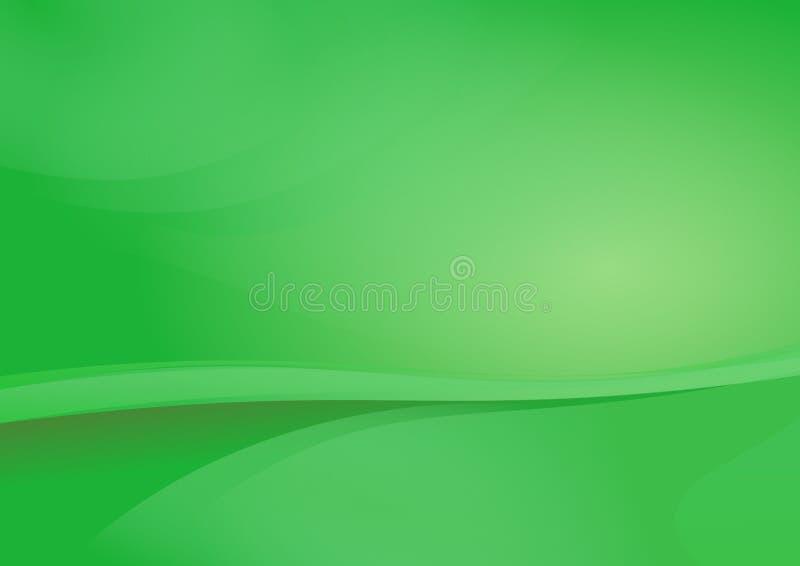 Grön vektor för kurvabstrakt begreppbakgrund vektor illustrationer