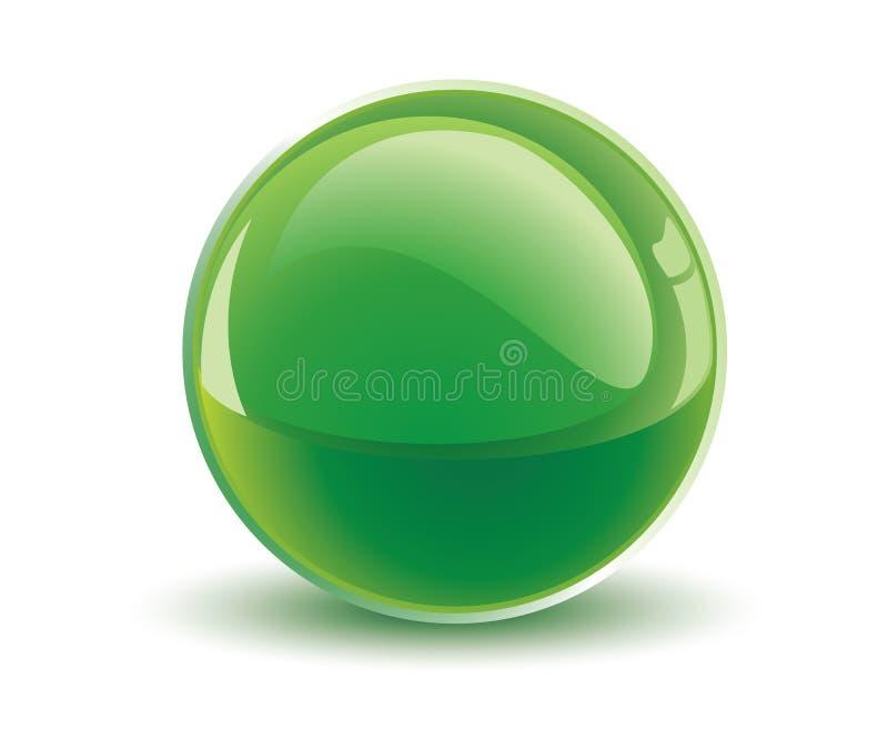 grön vektor för sphere 3d royaltyfri illustrationer