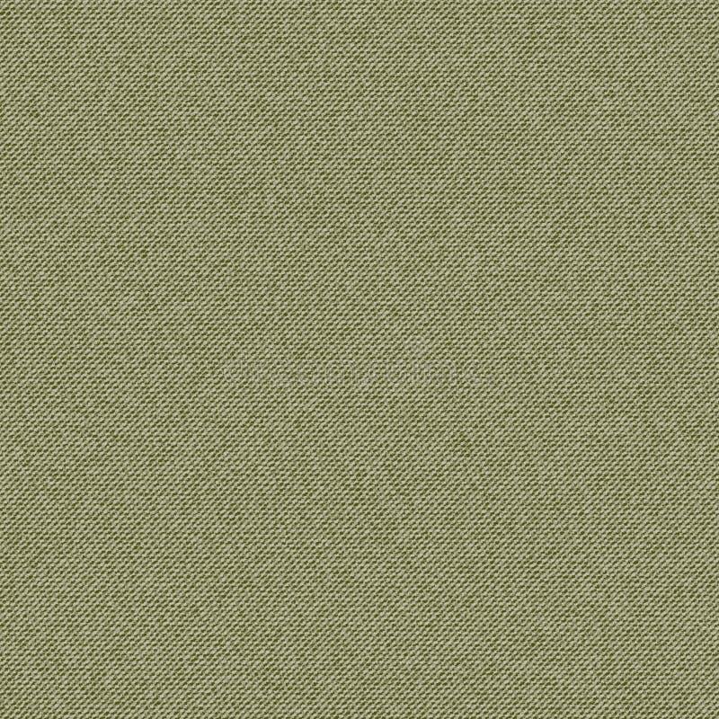 Grön vektortexturgrov bomullstvill stock illustrationer