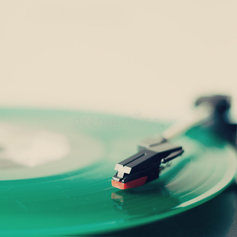 Grön vinyl royaltyfri foto