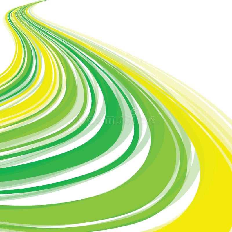 grön wave royaltyfri illustrationer