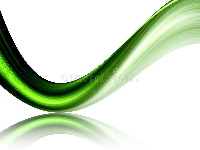 grön wave vektor illustrationer