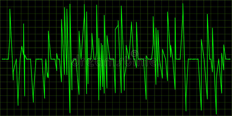 grön waveform royaltyfri illustrationer