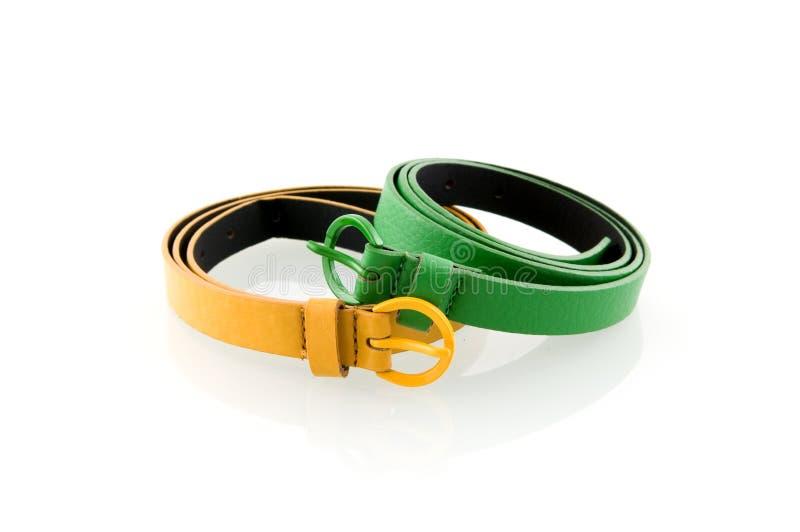 grön yellow för bälte fotografering för bildbyråer