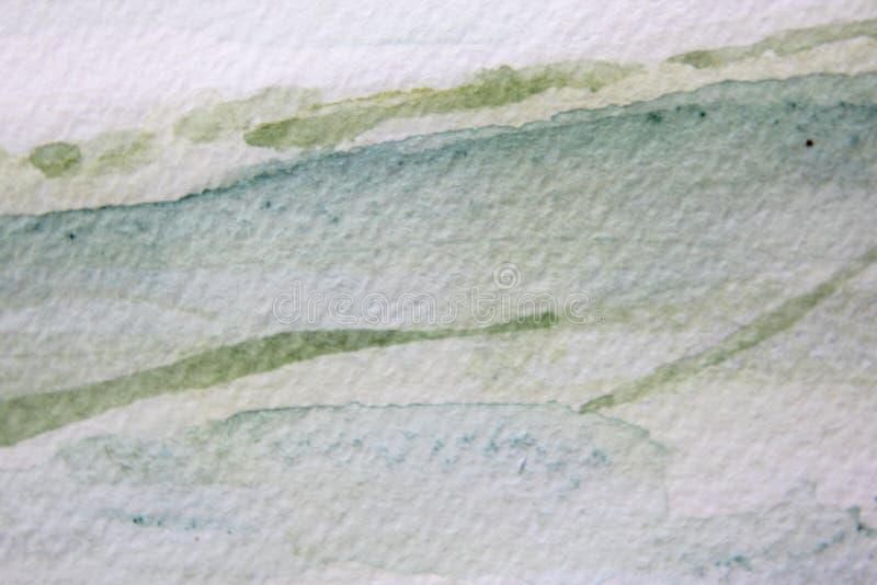 Gröna akvarelltexturer 11 royaltyfri illustrationer
