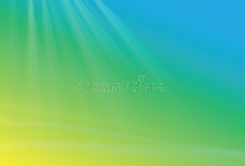 Gröna blått gulnar bakgrund stock illustrationer
