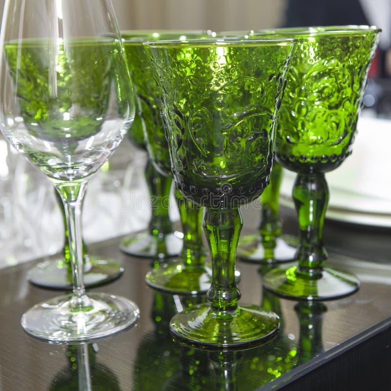Gröna exponeringsglas royaltyfria foton