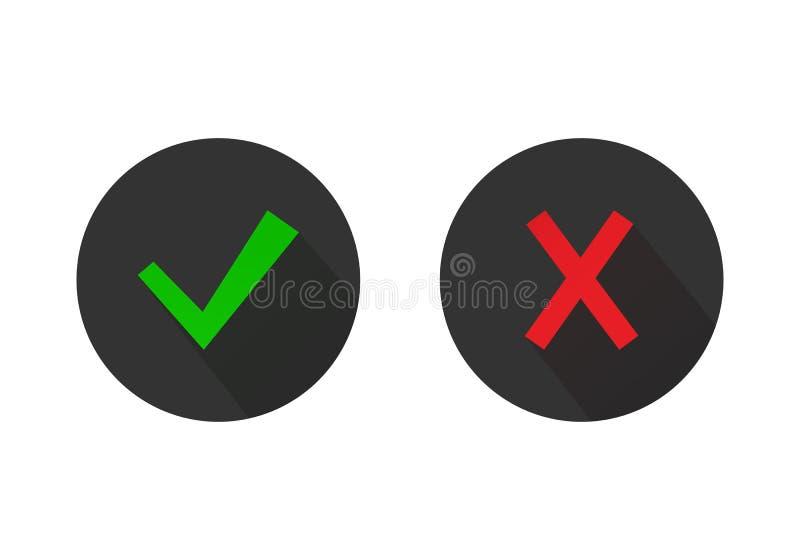 Gröna fästing- och Röda korsetknappar royaltyfri illustrationer