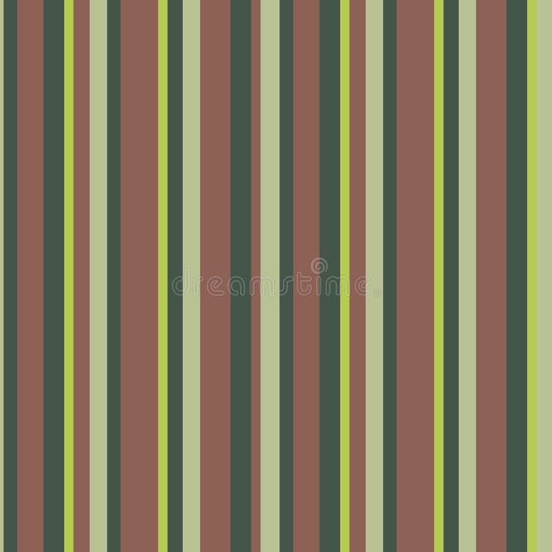 Gröna för olik bredd vertikala mörka - gröna, ljusa - bruna band royaltyfri illustrationer