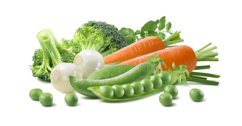 Gröna grönsaker 1 som för morot isoleras på vit bakgrund royaltyfria foton