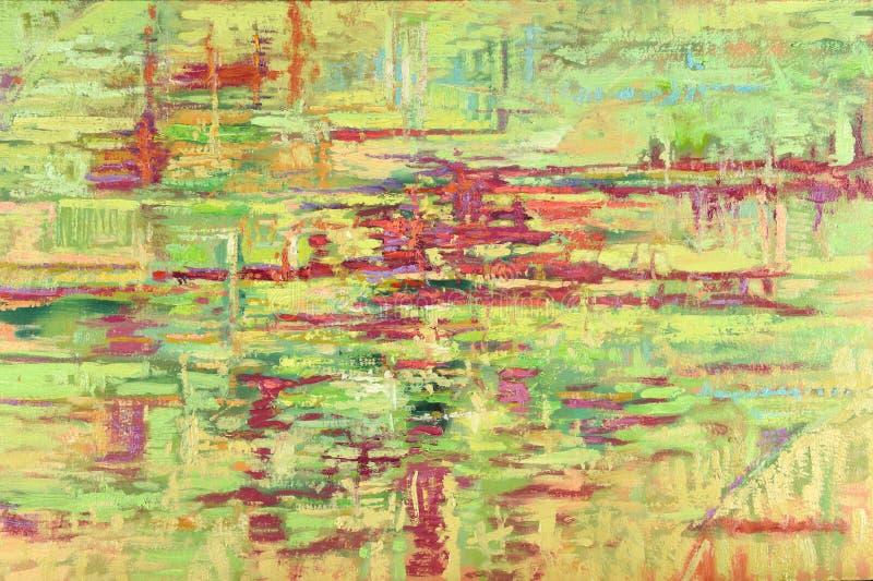 Gröna Harmony Oil Painting royaltyfria bilder