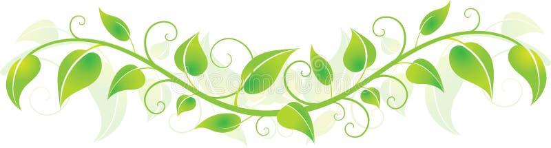 gröna horisontalleaves stock illustrationer