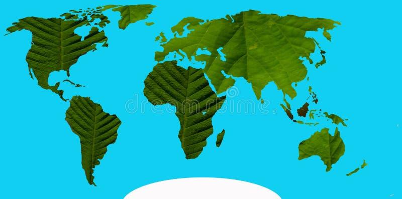 Gröna kontinenter royaltyfri bild