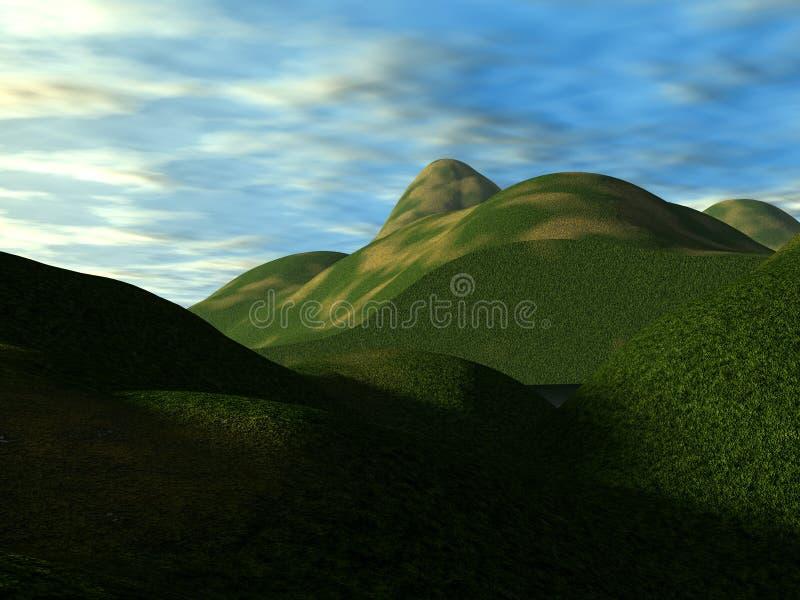 Gröna kullar 8 royaltyfria bilder