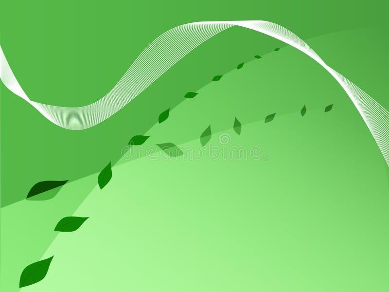 gröna leafs för bakgrund stock illustrationer