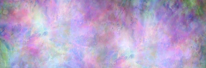 Gröna lilarosa färger och blå abstrakt bakgrund fotografering för bildbyråer