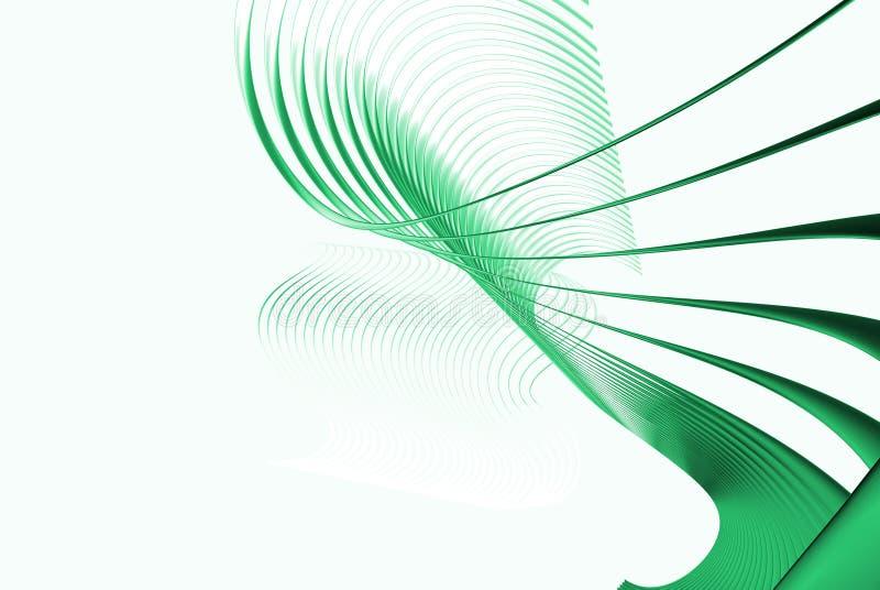 gröna linjer 3d stock illustrationer