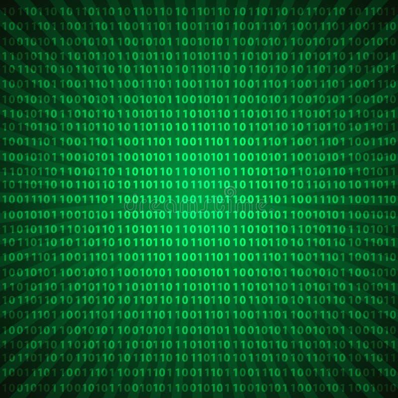 Gröna linjer bakgrund eps10 för abstrakta för mystiker siffror för binär kod royaltyfri illustrationer