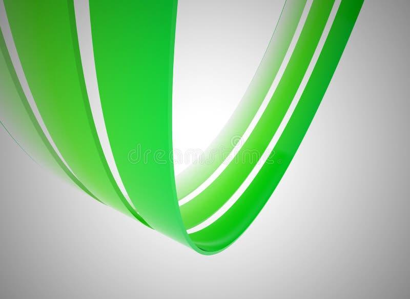 gröna linjer för illustration 3d stock illustrationer