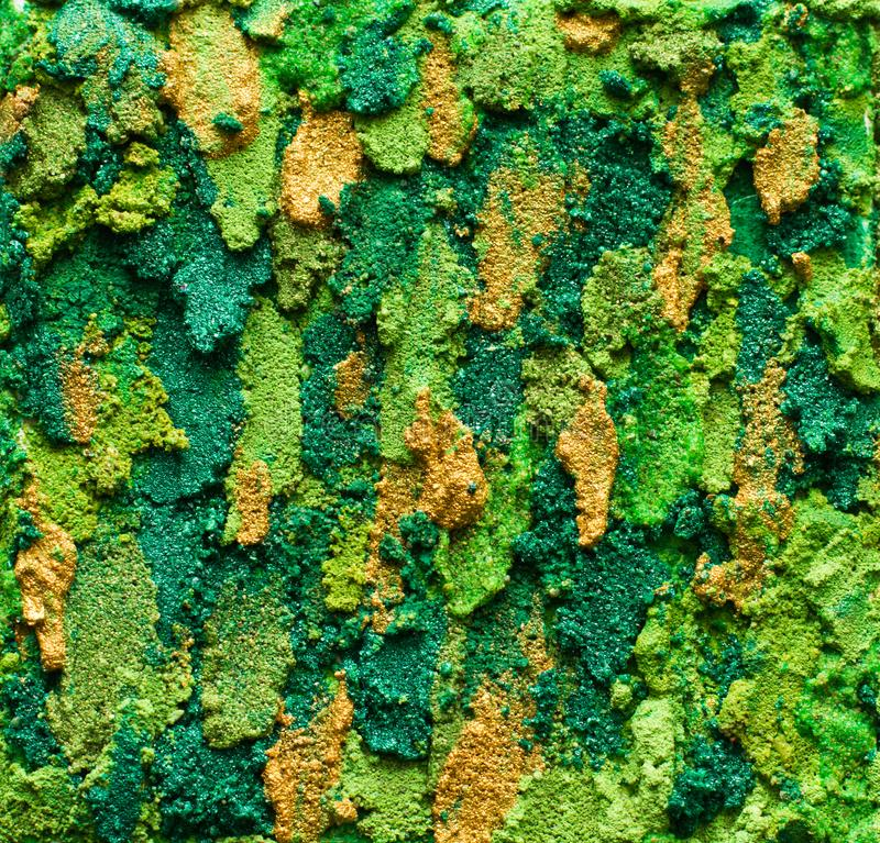 Gröna Moss Paint Textured Background arkivfoto