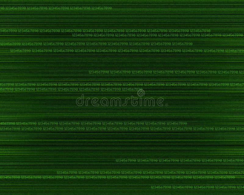 gröna moving nummer stock illustrationer