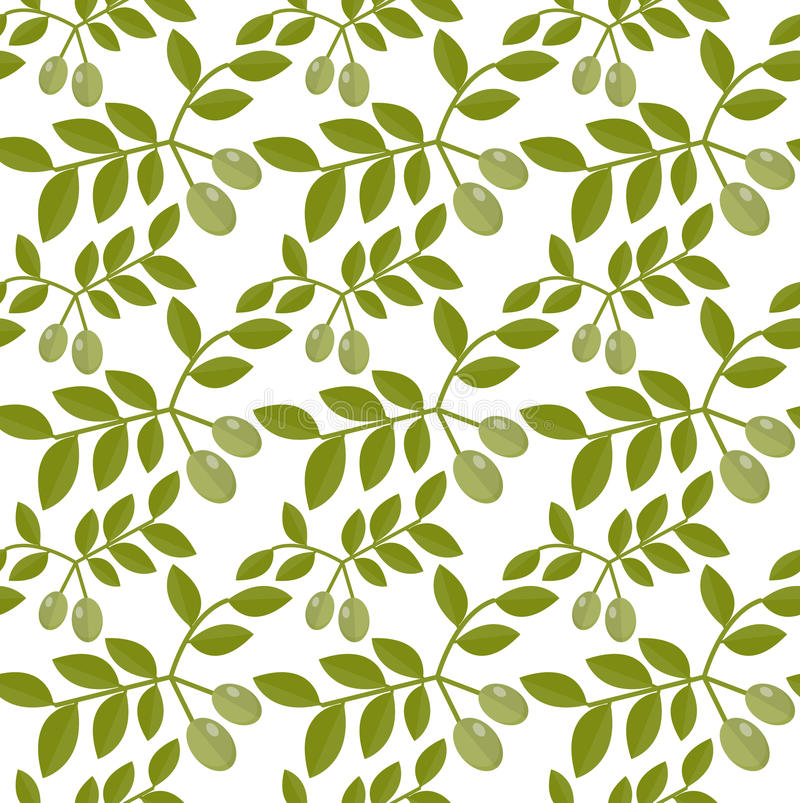 Gröna oliv för sömlös modell, olivgrön ändlös bakgrund, textur, tapet också vektor för coreldrawillustration royaltyfri illustrationer
