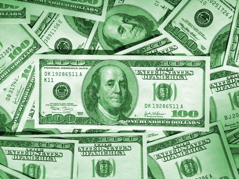 gröna pengar för bakgrund royaltyfri illustrationer