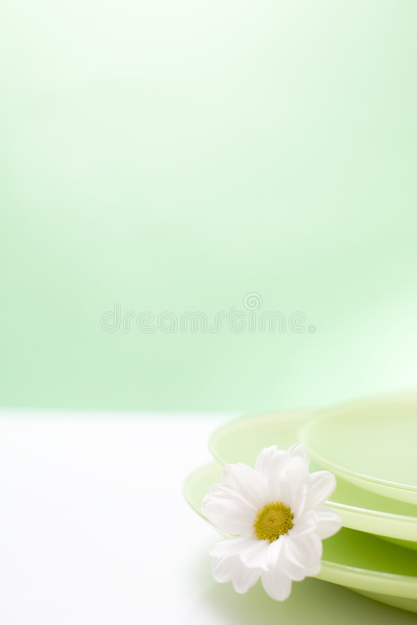gröna plattor royaltyfria foton