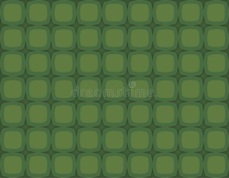 gröna retro fyrkantstjärnor för jul vektor illustrationer