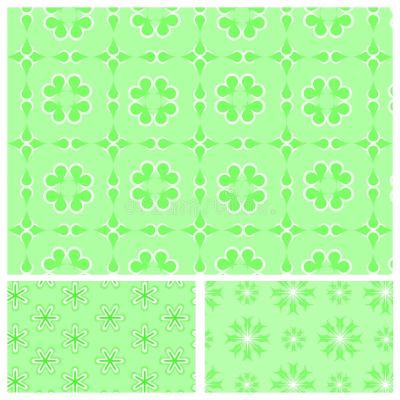 Download Gröna Seamless Mönstrar Med Snowflakes Stock Illustrationer - Illustration av tegelplatta, green: 27281786