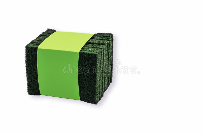 Gröna skärningspadar Strålna upp vit bakgrund och tuff textur arkivfoto