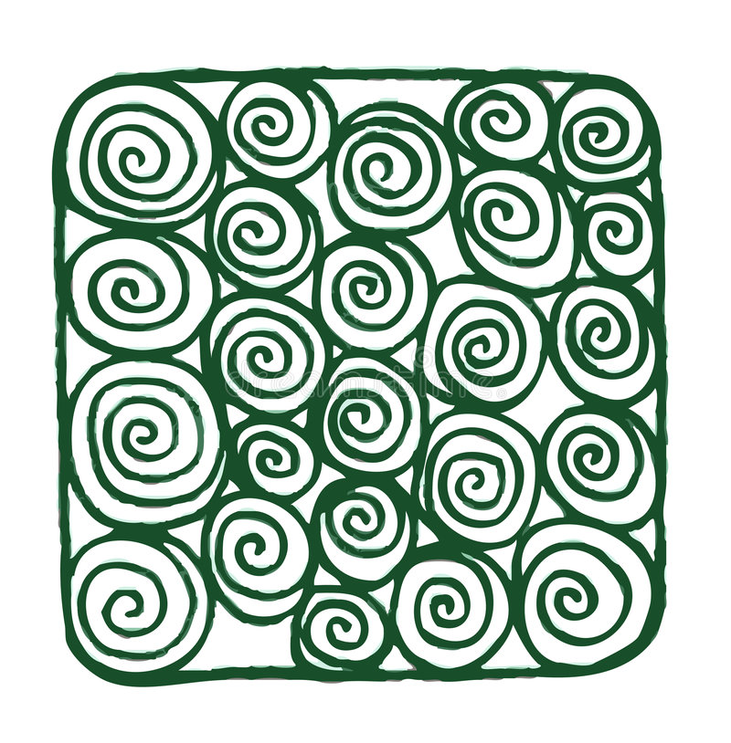 gröna spiral royaltyfri illustrationer