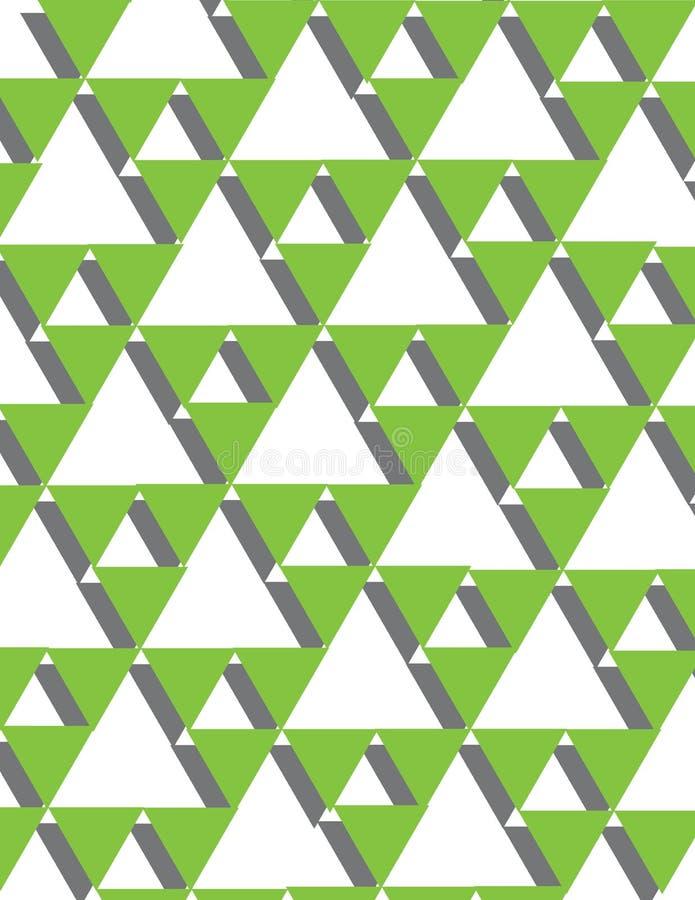 gröna trianglar arkivbild