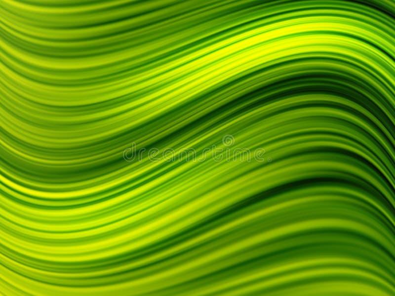 gröna waves royaltyfri illustrationer
