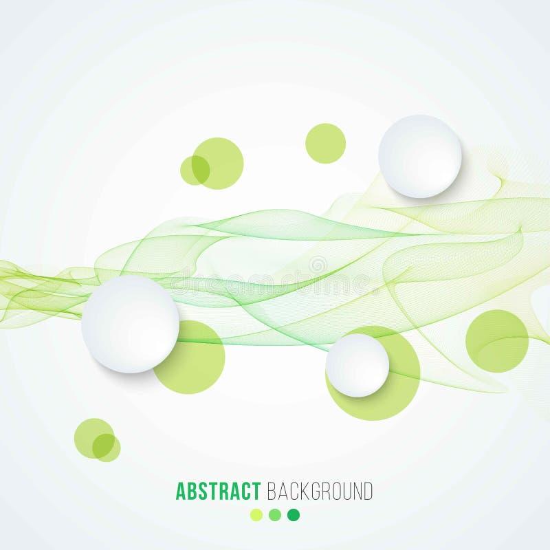 gröna waves för abstrakt bakgrund stock illustrationer