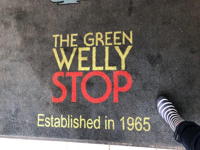 Gröna Welly vilar stoppet fotografering för bildbyråer